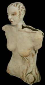 weißer Ton, Skulptur, Frau