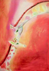 Giraffen, Mama mit Kind
