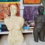 Skulpturen in der Galerie