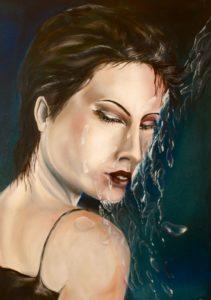 Frau in Öl