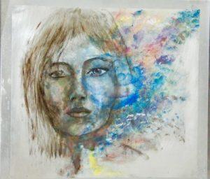 Porträt auf Alu
